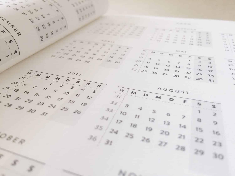 Tageskalender 2019